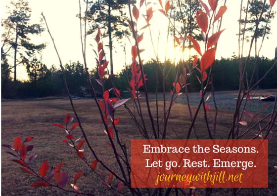 Embrace the Seasons.Let go. Rest.