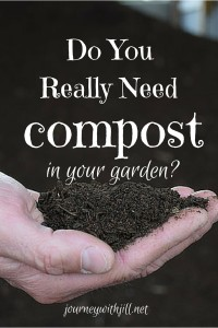 Do you really need compost in your garden? | Journey with Jill
