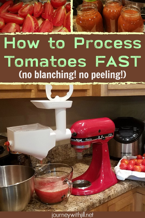 How to Quickly Process Tomatoes with a Kitchen Aid Mixer