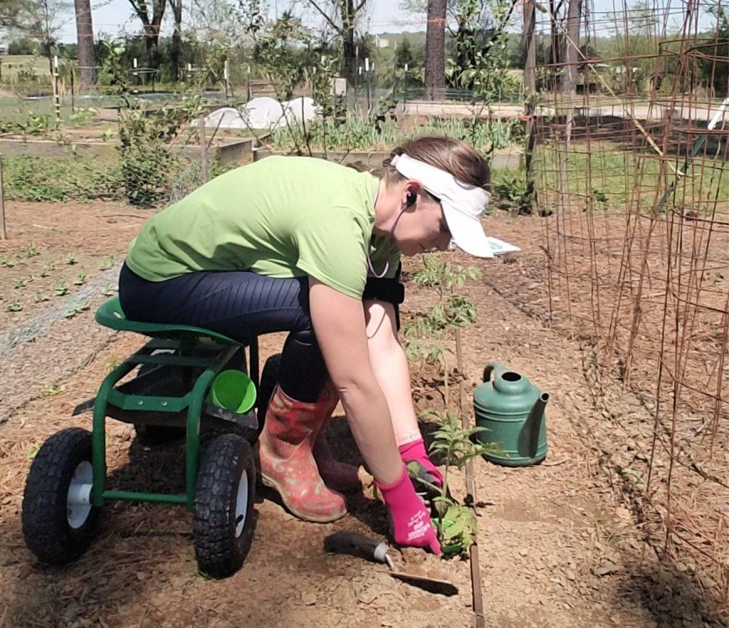 Listening to Gardening Podcasts in the Garden