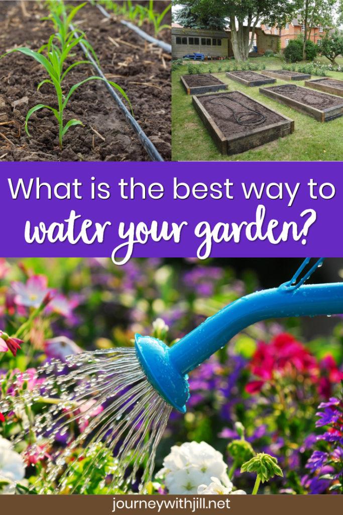 best way to water your garden