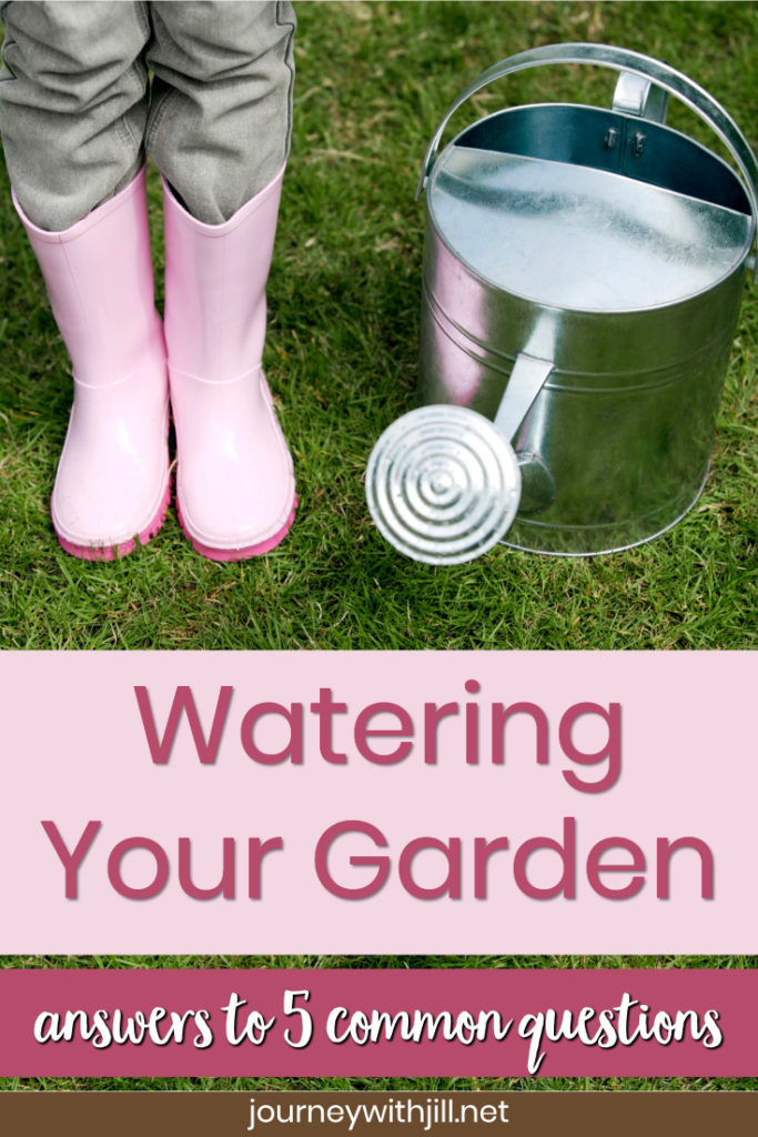 watering your garden, answers to common questions