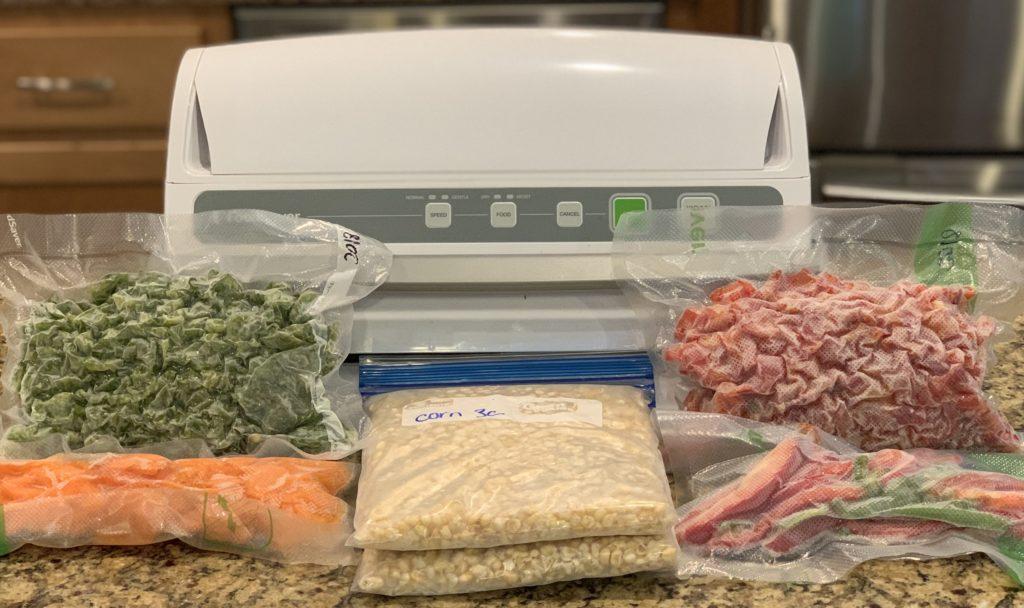 food saver for freezing vegetables