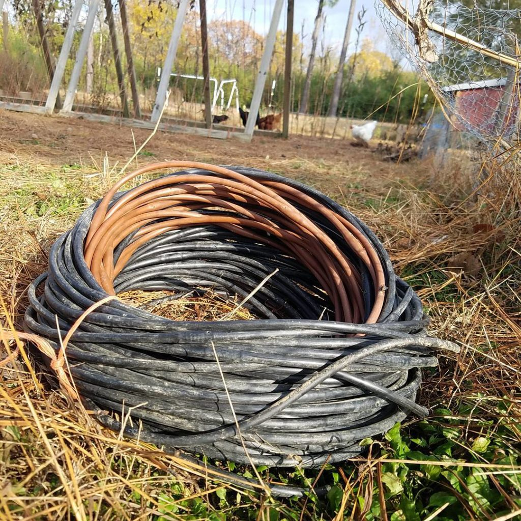 storing drip lines for the winter