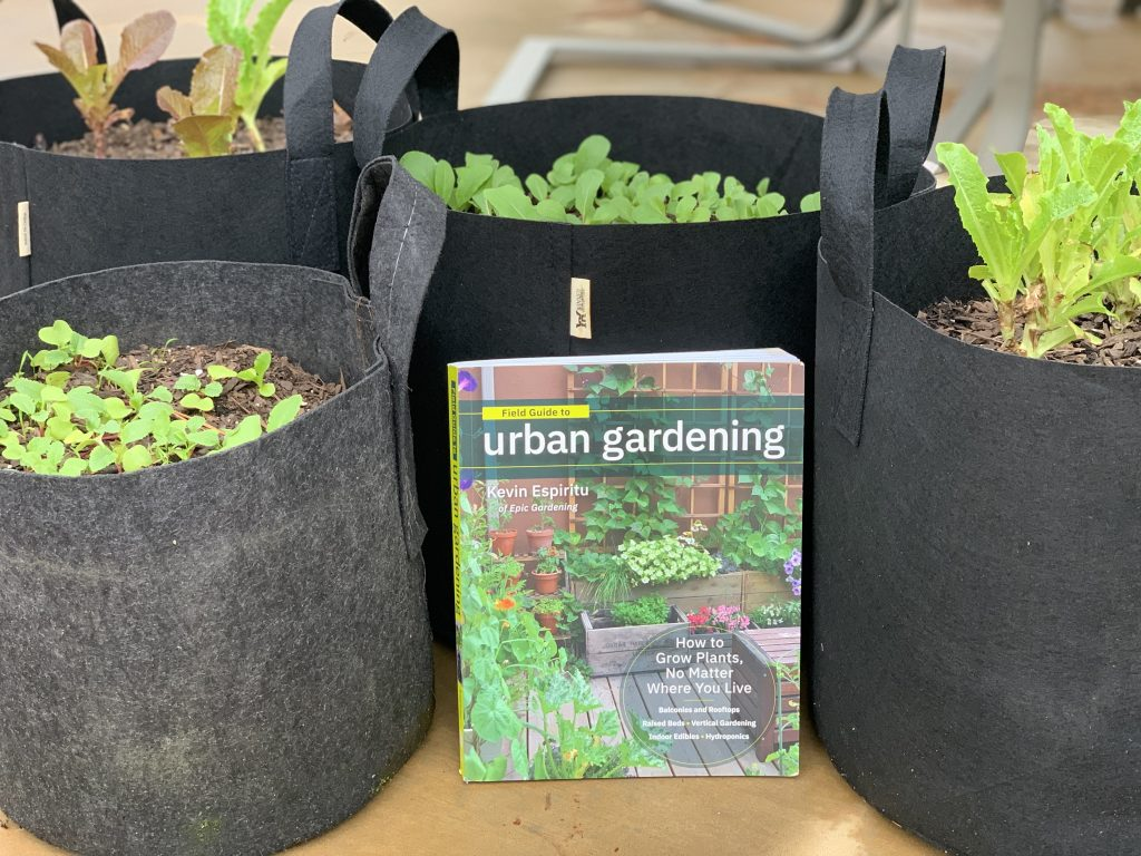 urban gardening book with kevin espiritu