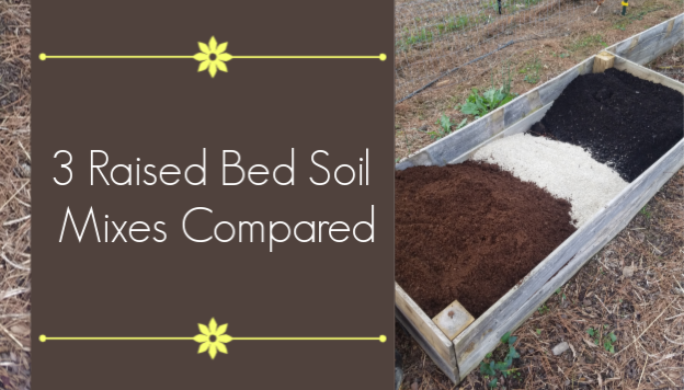 raised bed soil mix compared