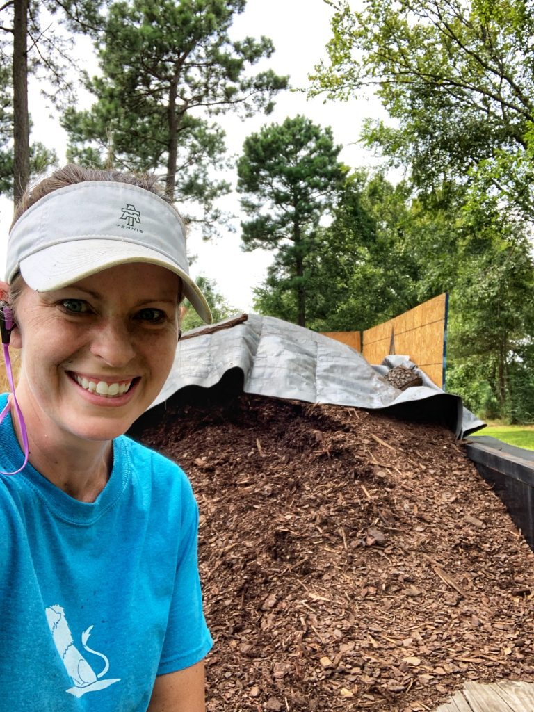 wood chip mulch in bulk