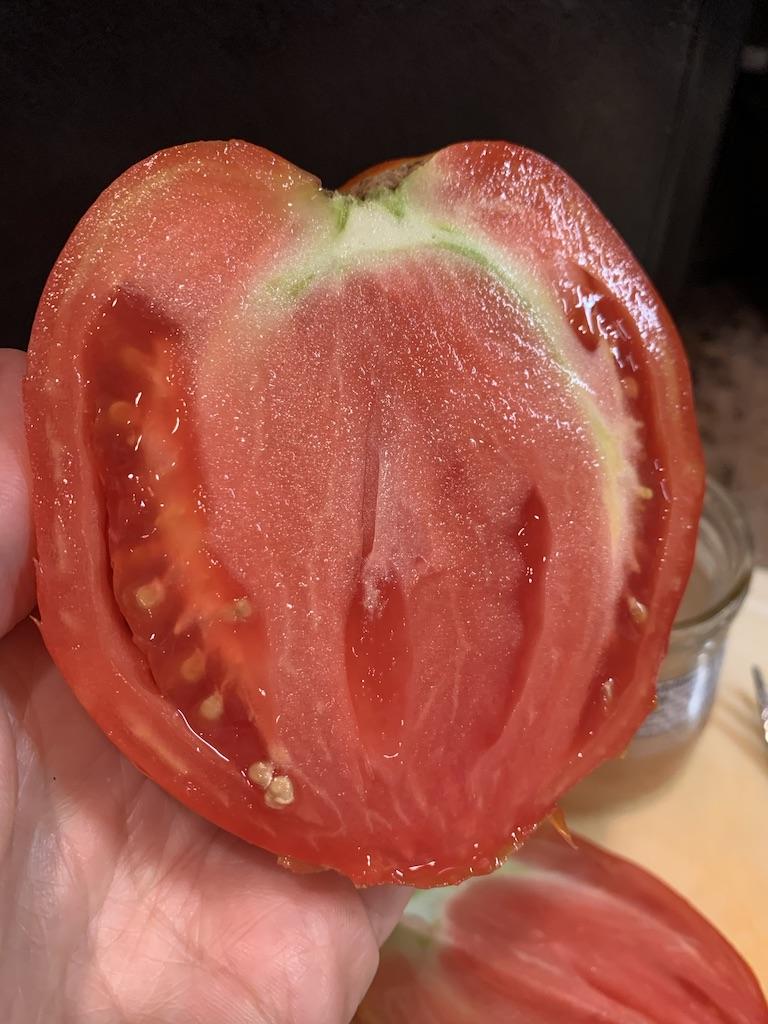 seeds inside tomato