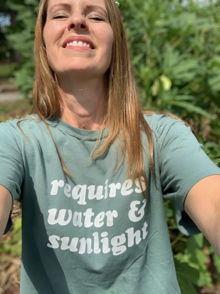 """T-shirt that says """"Requires water & sunlight"""""""
