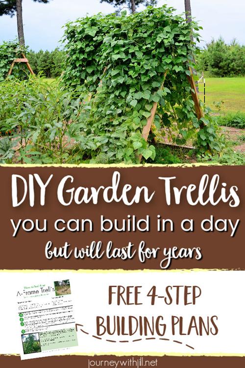 A-Frame DIY Garden Trellis 4-Step Building Plans