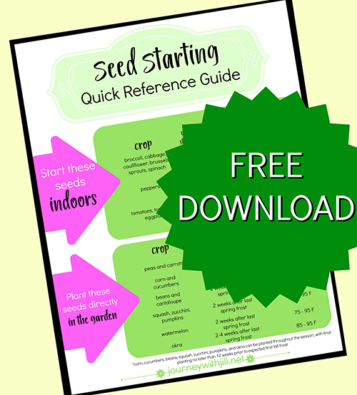 Seed Starting Quick Reference Guide