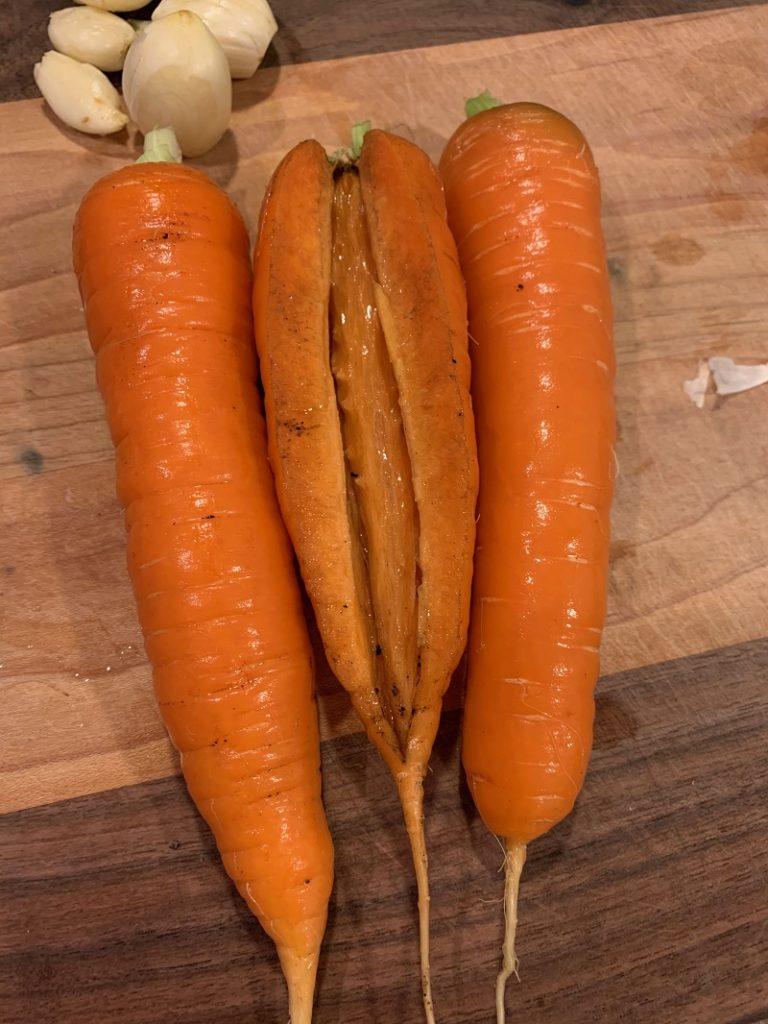 Carrot that has split