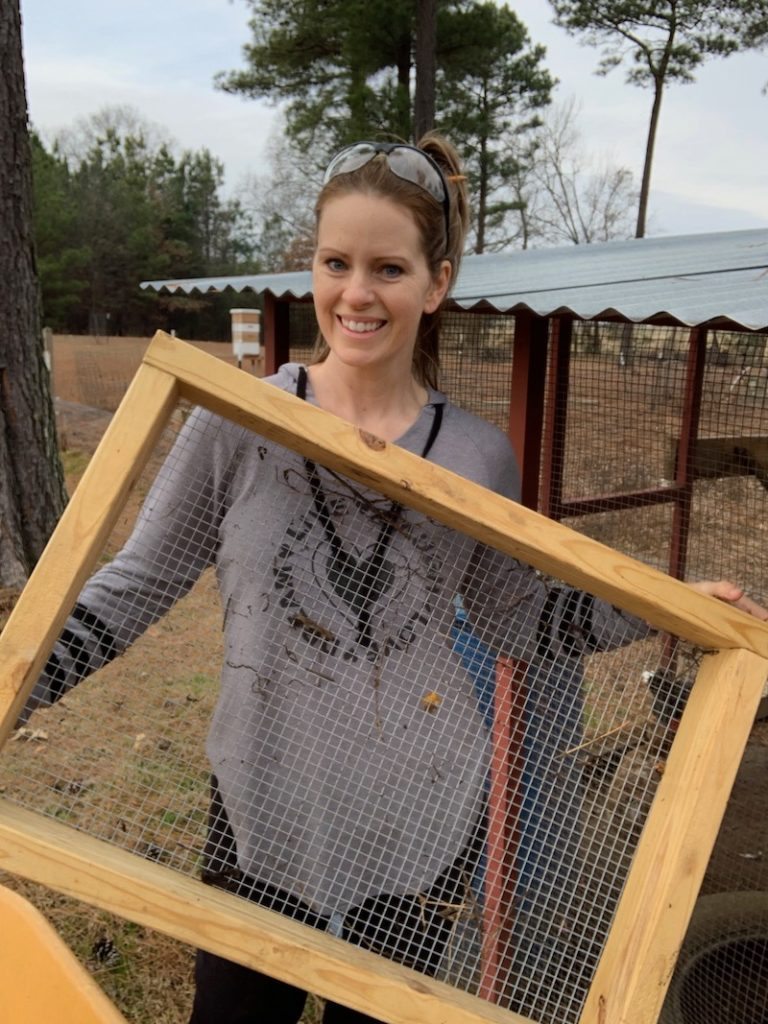 compost sifter with hardware cloth